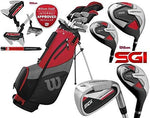 Wilson ProStaff SGI - Men's Complete Golf Club Set Graphite Shafted Irons Graphite Shafted Woods New For 2019 + FREE Umbrella & Upgraded Harmanized M2 Putter Worth £39.00