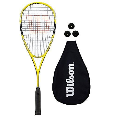 Wilson Ripper Team Squash Racket + 3 Balls