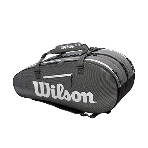 Wilson Sporting Goods Super Tour 3 Compartment Tennis Bag, Black/Grey