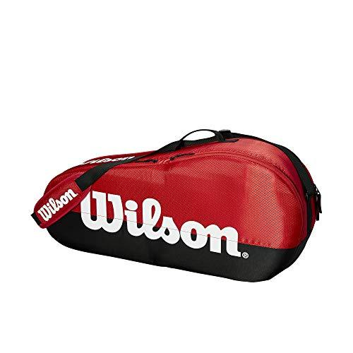Wilson Sporting Goods Team 1 Small Compartment Tennis Bag, Black/Red