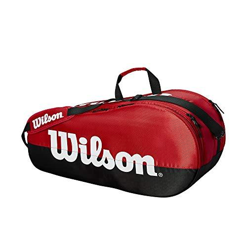 Wilson Sporting Goods Team 2 Compartment Tennis Bag, Black/Red