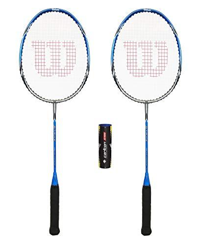 Wilson Strike Badminton Racket (Bundle Options) (2 Rackets + 6 Shuttles)