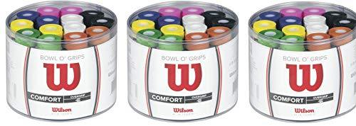 Wilson Tennis Bowl O' Grips Racket Overgrips - Multicoloured (Pack of 50) (Thrее Расk)