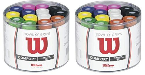 Wilson Tennis Bowl O' Grips Racket Overgrips - Multicoloured (Pack of 50) (Twо Расk)
