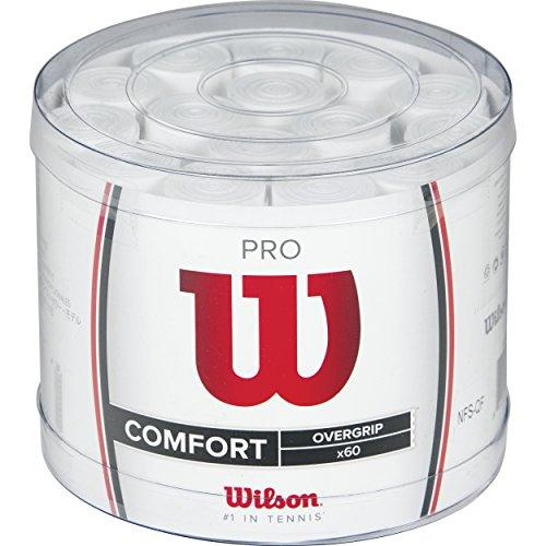 Wilson Tennis Pro Over Racket Grips - White (Pack of 60)