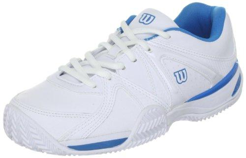 Wilson Trance Impact Sports Shoes - Tennis Womens White Weiss (White/Cyan) Size: 38 1/3
