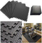 Wilsons Direct Black Interlocking Eva Foam Floor Mat Puzzle Tiles Protection Mats Suitable For Children's Play Area Exercise Yoga Gym Home Office Basement Garage Eva Mats Patterned 01 12pc (48 Sq.Ft)