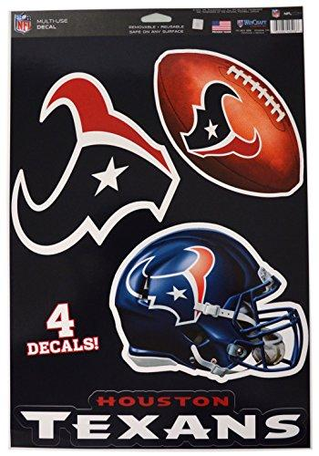 Wincraft Official National Football League Fan Shop Licensed NFL Shop Multi-use Decals (Houston Texans)