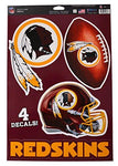 Wincraft Official National Football League Fan Shop Licensed NFL Shop Multi-use Decals (Washington Redskins)