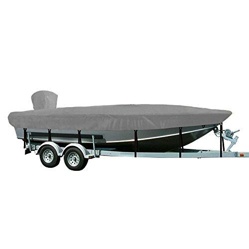 WINDSTORM by Eevelle V-Hull Fishing Boat Cover for Outboard Motor, 16-Feet 6-Inch x 76-Inch, Silver