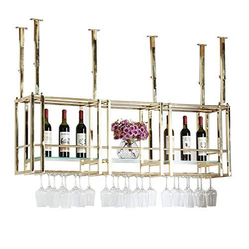 Wine Cup Rack Wine Rack Wine Glass Holder Hanging Stainless Steel Multi-size Goblet Rack Upside Down Bar Bar Hanging Stemware Holder (Size : 120 * 30 * 50cm)
