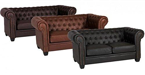 Winston 3 Seater Sofa Leather & PVC, 3 Leather & PVC - 1900W x 900D x 750H Three Seater Sofa, Living Room Furniture, Brown