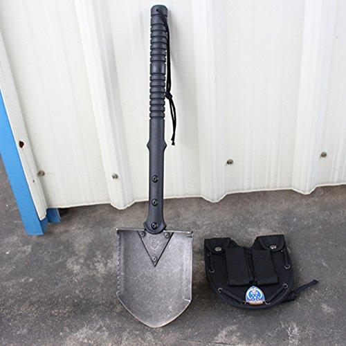 Winter Snow Shovel 440 Steel Military Shovel Portable Life Saving Spade Camping Equipment Survival Fishing Tackle Garden Tools