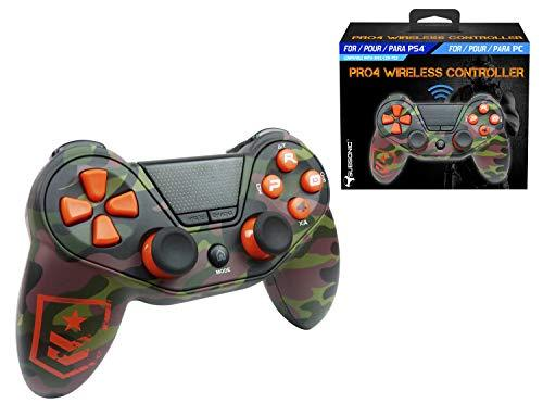 Wireless controller for Playstation 4 and Playstation 3 - Pro4 FPS wireless controller for console PS3 - PS4 - PS4 Slim - PS4 Pro - PC - Camo