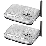 Wireless Intercom System Hosmart 1/2 Mile LONG RANGE 7-Channel Security Wireless Intercom System for Home or Office (2018 New Version)[2 Stations Sliver]
