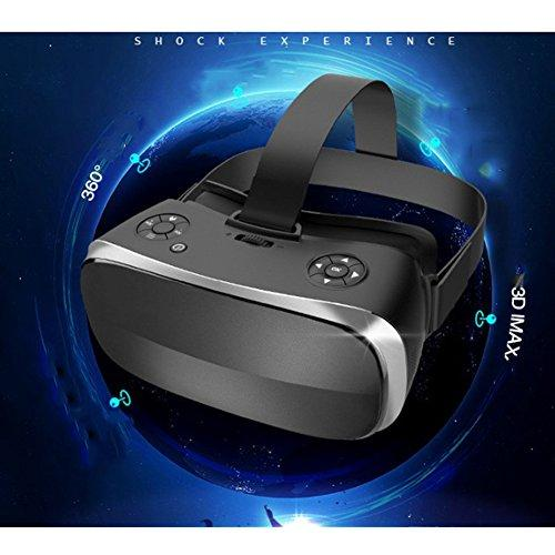 With Eye Protection VR Headset 3D Glasses 360 HD Viewing Immersive Virtual Reality Helmet Video Game Controller Suitable For Iphone 7 6 6S Plus,And Apple Smartphones PS4 Computer Wifi HDMI Helmet,Black