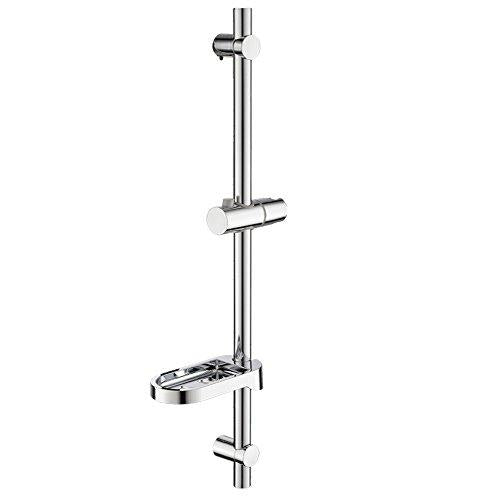 Witsinhome Bathroom 620mm Round Stainless Steel Handheld Adjustable Shower Riser Rail, with Adjustable Riser Rail to suit different needs