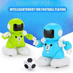 Wokee Remote Control Robot Toy Intelligent Wireless Football Match Robot Smart Soccer Battle Toy Music Night Light Mode Walking Dancing Educational Toys for Kids (2 pcs)