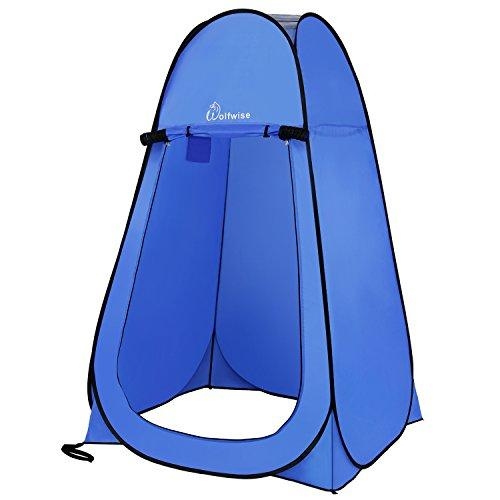WolfWise Shower Privacy Toilet Tent Beach Portable Changing Dressing Camping Pop Up tents Room Sun Sunshade Baby Outdoor Backpack Shelter Canopy (Blue)