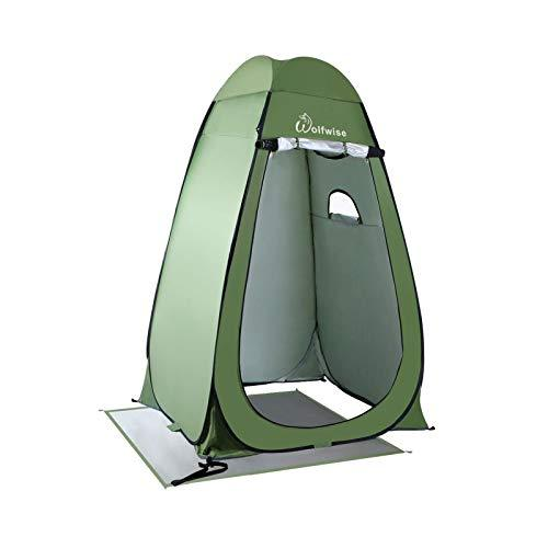 WolfWise Shower Privacy Toilet Tent Beach Portable Changing Dressing Camping Pop Up tents Room Sun Sunshade Baby Outdoor Backpack Shelter Canopy (Green)