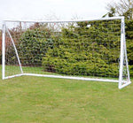 Wollowo 12' x 6' Football Goal Lock Together Model White UPVC Posts Soccer Training Net