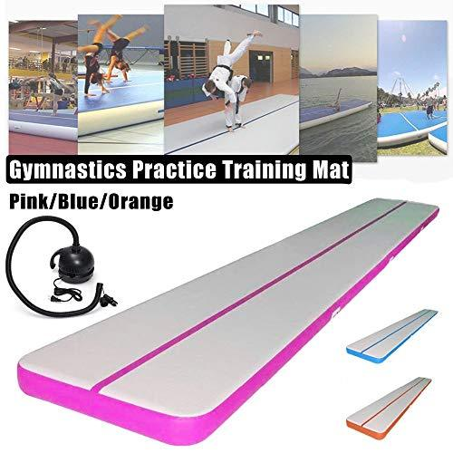 Women INF Inflatable Balance Beam Cushion Training Mattress Air Floor Gymnastics Mat Trick Pad For Somersault Sports With Electric Pump