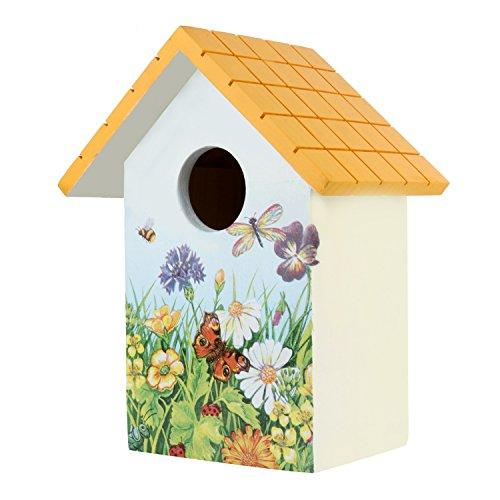 Wonderland Bird House In Wood With Yellow Roof,Bird House For Garden,Bird Houses For Balcony,Hand Made,Hand Painted,Gifting,Bird Care