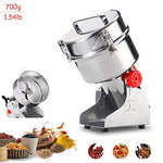 WooBrit Grain Grinder Coffee Mill Electric Cereal Grains Grinders 3 Blades Timing Grinding Machine Stainless Steel Food Processor for Spice Herb Medicinal Herbal Swing Type 30000r/min 700g/1.54lb