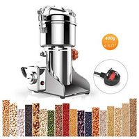 WooBrit Spice Grinder Electric Corn Rice Grinders Herb Mill High Speed Stainless Steel Powder Machine for Spice Coffee Beans Nut Seed 400g/0.88lb