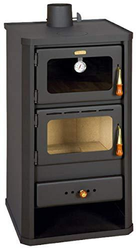 Wood Burning Stove 12 kW with Oven Solid Fuel Fireplace Woodburning Prity FM