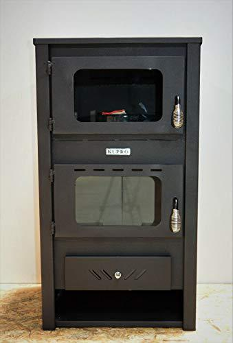Wood Burning Stove with Oven Cooking Log Burner Fireplace 14 kw