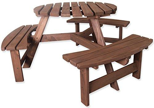 Remarkable Woodside 6 Seater Round Outdoor Pressure Treated Wooden Pub Dailytribune Chair Design For Home Dailytribuneorg