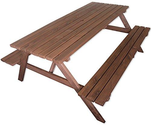 Woodside Ft Outdoor Pressure Treated Wooden PicnicPub Bench Garden - Pressure treated wood picnic table