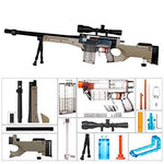 worker F10555 Imitation AWP Kit for Nerf Games Modify Toy - Black Clear