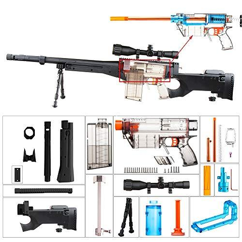 worker F10555 Imitation AWP Kit for Nerf Games Modify Toy - Black
