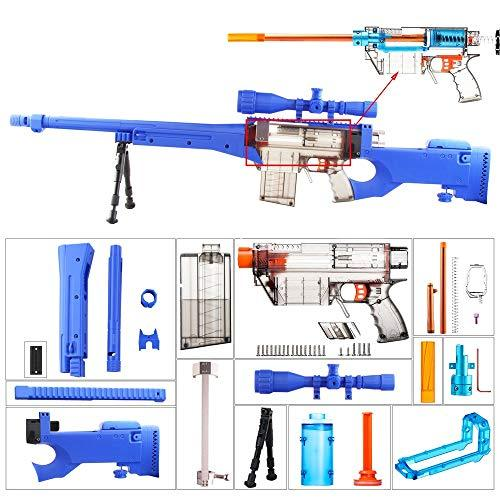 worker F10555 Imitation AWP Kit for Nerf Games Modify Toy - Blue