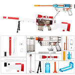 worker F10555 Imitation AWP Kit for Nerf Games Modify Toy - Red Orange