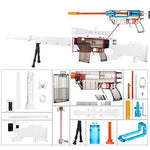 worker F10555 Imitation AWP Kit for Nerf Games Modify Toy - White