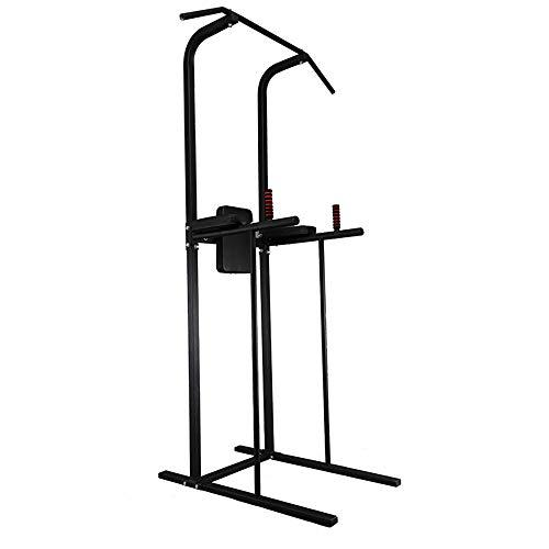 Workout Station Dip Stands Multi-Function Power Tower Adjustable Height Home Fitness Workout Station Dip Stands Pull Up Bar Push Up Strength Training Equipment ( Color : Black , Size : 106*103*215CM )