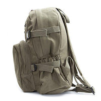 cd5ca8f7a5962c World War 2 Military Jeep Star Army Sport Heavyweight Canvas Backpack Bag  in Olive & Black