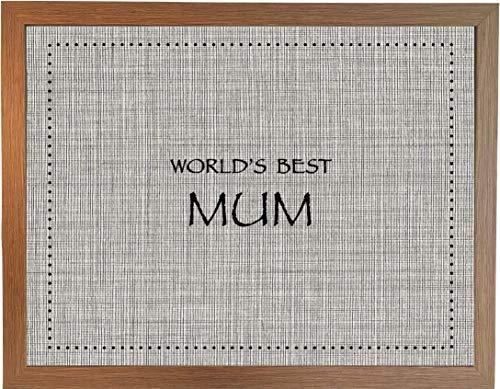 """World's Best"" Lap Trays: Quality Bean Bag Beanbag Padded Cushion Pillow Laptray Lap Tray Laptop Bed Breakfast TV Dinner Tray Table Desk, Vintage Range (✶ World's Best Mum Vintage Wood ✶)"