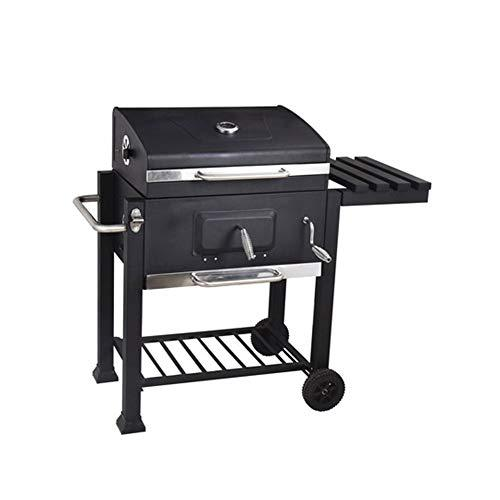 WSI Barbecue Grill Stainless Steel BBQ Charcoal Grill Smoker Barbecue Folding Portable for Outdoor Cooking Camping Hiking Picnics Backpacking Large