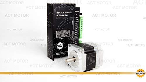 X-MAS Sale !15% OFF! ACT Motor GmbH 1PC BLDC Motor 57BLF01 Nema23 59 mm 0.2 Nm 63 W 3000 RPMSingle Flat Shaft Ø8 mm + BLDC-8015A-5 Driver 3D Printer CNC Machine Carver Machine Automation Instrument