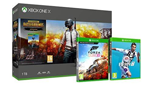 Xbox One X 1TB console Player Unknown's Battlegrounds bundle + FIFA 19 + Forza Horizon 4