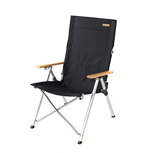 XBQD Camping Chair Folding Portable Beach Chairs And Sports Chair Camp Chair Original Steel Backpack Chair Equipment Folding Padded Hard Arm Chair With Carry BagBlack