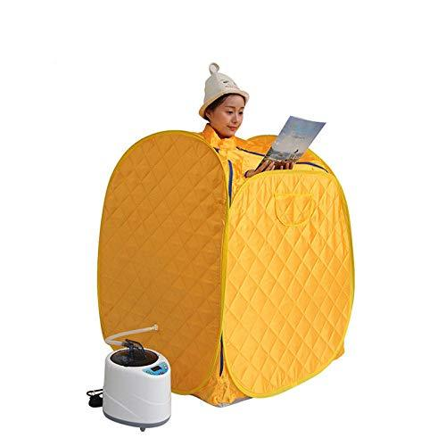 XIAOLY Portable Steam Sauna Steam Generator Wireless Remote Control Steamer - Sauna Meridian Dredging Internal Sauna Promotes Metabolism,Yellowremotecontrol2liters