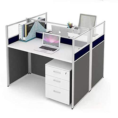 xinrongqu Modern Minimalist Plate Three-Person Staff Screen Desk   Computer Office Desk And Chair Combination A
