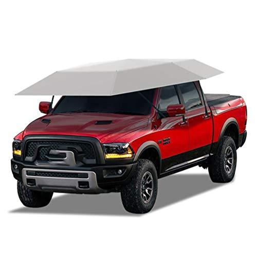 XNNSH Semi-Automatic intelligent remote control Car Tent,Movable Carport Folded Portable Automobile Protection Car Umbrella Sunproof Car Canopy Cover