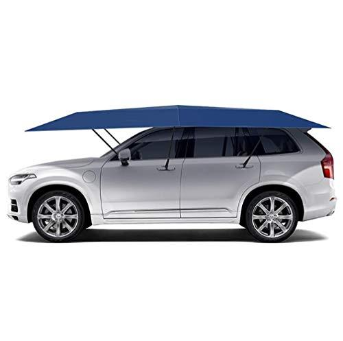 XNNSH Universal Car Tent Movable Carport Folded Portable Automobile Protection Car Umbrella Sunproof Car Canopy Cover with Remote Control