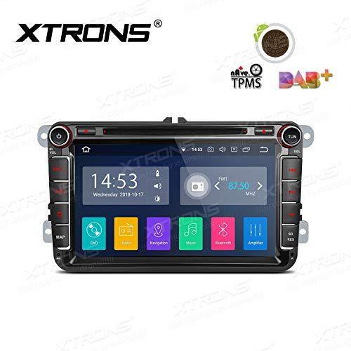 XTRONS Android 8.1 Car Stereo 8 Inch HD Multi-touch Screen Bluetooth Head Unit Car Radio Multimedia Player Supports Wifi GPS Full RCA Output OBD DAB+ 1080P Video Car DVD Player for VW Seat Skoda Golf